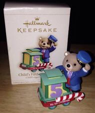 Hallmark 2004 Child's 3rd Christmas Bear Peppermint Express Train Ornament