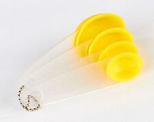 KLEENEZE ANZO SET OF 4 MEASURING SIZE SPOONS COLOUR YELLOW