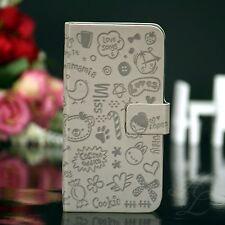 Samsung Galaxy s4 i9500 i9505 flip case funda plegable Book estuche cómic cover gris