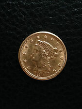 1907 Liberty Head $2.5 (2 1/2) Dollar QUARTER EAGLE GOLD Coin