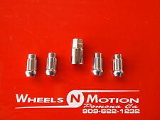 14X2 MM  wheel Locks  set of 4 with 1 key chrome  ford