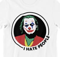 T-Shirt Joker Ich hasse Menschen I hate people Spruch lustig Sprüche Fun S-5XL