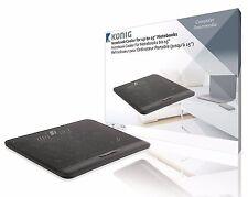 König Notebook Ständer + 2x Lüfter Kühler Laptop USB Fan Cooler schwarz Netbook
