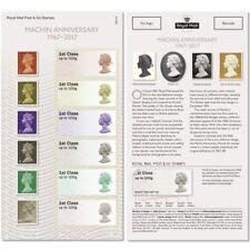 GB Post & Go Machin Anniversary 1967-2017 set (6 stamps) MNH 2017