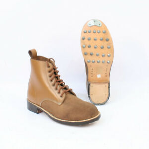 Replica WW2 German Brown Schnurschuhe Ankle Boots by FAB TR778