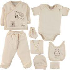UK 8 pcs Newborn Baby Boys Girls Unisex %100 Organic Cotton Babygrow Gift Set