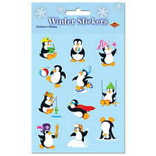 Penguin Stickers 4 Ct Christmas Party Favors