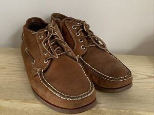 Timberland Genuine Brown Leather Boat Deck Shoes Mens Size UK 10.5 EUR 45