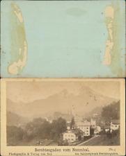 Allemagne, Berchtesgaden vom Nonnthal Vintage CDV albumen carte de visite,