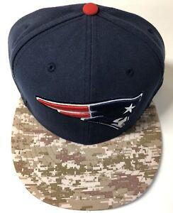 NFL New England Patriots New Era Fitted Hat Blue w/ Digital Camo 7 7/8 NWOT 🔥