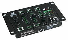 DJ PA Mixer 3/4 Kanal Party Disco Mischpult USB MP3 Player Stereo Mic in Rack EQ