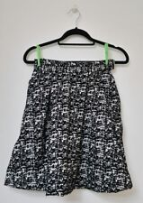 H&M Womens Rockabilly A Line Pocket Flare Thick Skater Black White Skirt 34 4 US
