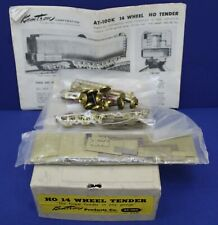 Vintage Kemtron AT-100 HO BRASS Alco 14 Wheel Tender Kit Complete Boxed
