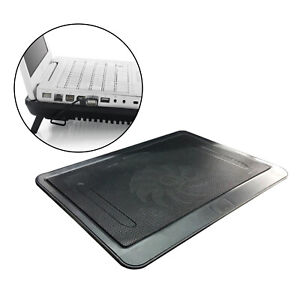 Portable Notebook Laptop Cooler Cooling Pad Stand Tray Ventilation Fan Black