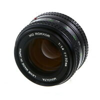 Minolta 50mm F/1.4 Rokkor MD Mount Manual Focus Lens {55} - UG