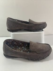 skechers air cooled memory foam. Taupe Leather Slip-ons. Worn Once! Size 6