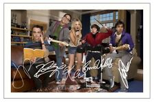 CAST - THE BIG BANG THEORY AUTOGRAPH SIGNED PHOTO PRINT