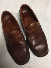 Sebago Men's Brown Leather Slip On Casual Shoes Loafers Size Sz 8 Medium Med M