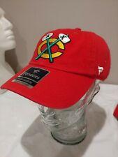 Chicago Blackhawks Tomahawk Hat Cap Adjustable NHL Mens NWT Fanatics