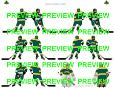 Coleco Table Hockey College Clarkson Golden Knights Grn Team Custom Decal Sheet