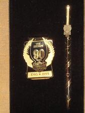 1993 HARLEY DAVIDSON 90 YEAR ANNIVERSARY INK PEN MONEY CLIP SET NIB # 99290-932