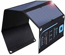 BigBlue Cargador Solar 28W LCD Amperímetro 2USB Puerto Panel F/S Con / Track #