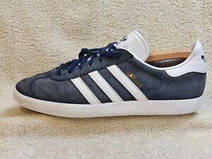 Adidas Gazelle mens trainers Leather Blue/White UK 10 EUR 45 US 10.5