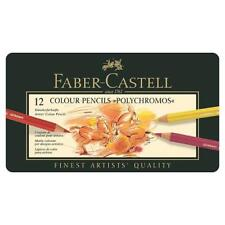 Faber-Castell Polychromos Artists' Pencils - 12 Metal Tin