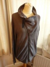 Reiss chocolate brown chunky knit cardigan jumper M VGC smart casual zipped
