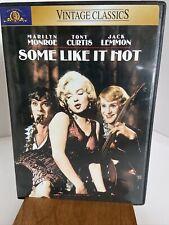 Some Like It Hot Dvd Movie 1959 Marilyn Monroe, Tony Curtis, Jack Lemmon
