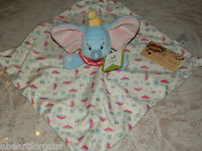SECURITY BLANKET DUMBO ELEPHANT DISNEY KIDS PREFERRED CIRCUS TENTS BLUE NWT SOFT