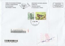 CYPRUS REGISTERED COMMERICAL COVER TO MACAU VIA HONG KONG WITH BIRD THEME STAMP
