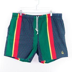 90s Nautica Boardshort Flag All Over Print Short Pants90s Nautica Navy Blue Shorts90s Nutica ClothingShort Pants
