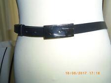 Gucci Gürtel schwarz Schnalle Silber