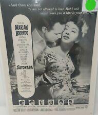 1957 Marlon Brando Sayonara Motion Picture Advertisement MIIKO TAKA Japan