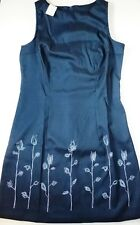 *NWT* BYER TOO WOMENS SLEEVELESS BLUE FLORAL PATTERN DRESS SIZE 11 M116