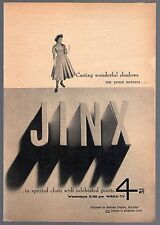 1956 Tv Ad~JINX FALKENBERG~JINX'S DIARY on WRCA in NEW YORK CITY~CHATS W GUESTS