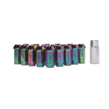 Mishimoto Neo Chrome Aluminium Locking Wheel Lug Nuts, M12 x 1.25 + Tool