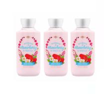 New Bath and Body Works Body Lotion Cream BOURBON STRAWBERRY & and VANILLA x3