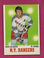 1970-71 TOPPS # 63 RANGERS ROD  GILBERT EX-MT CARD (INV#3250)