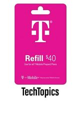 T-Mobile Prepaid $40 Refill Card (Direct)
