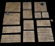 Wooden Dungeons and Dragons Dungeon Tiles Inch Grid Terrain Set d&d 28mm Wood