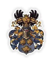 """Kingdom Of Dalmatia Coat Of Arms Crown Sticker 2.7x4"""" for Bumper Helmet Tablet"""