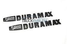 2 NEW 14-16 GM DURAMAX ALLISON EFI LIVE MATTE BLACK & WHITE HOOD EMBLEMS BADGES