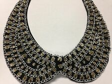 Faux Peter Pan Collar Silver Rivets Necklace for Women Detachable Choker Style 5
