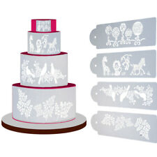 4 Stencil animali uva palline netale mascherina decorazione torta Cake Design
