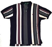 Vintage Knights Of The Round Table Striped Polo Shirt Mens XL Great Condition
