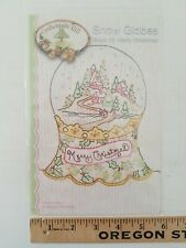 Snow Globes Block 12 Merry Christmas Embroidery Pattern Crabapple Hill Studio