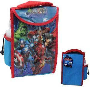 Marvel Avengers Kids Children's Insulated Lunch Bag & Water Bottle