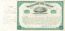 John D. Rockefeller and Henry M. Flagler signed Standard Oil Trust Certificate